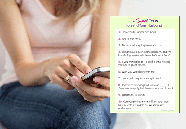 10 Sweet Texts To Send Your Husband Go Valley Kids