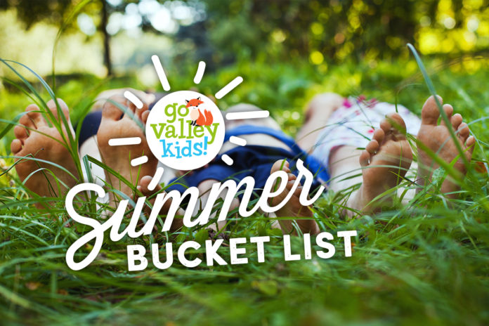 Go Valley Kids Summer Bucket List