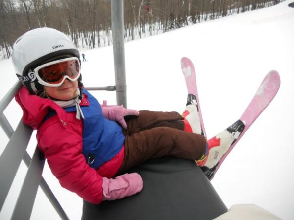 skiing with kids - lift