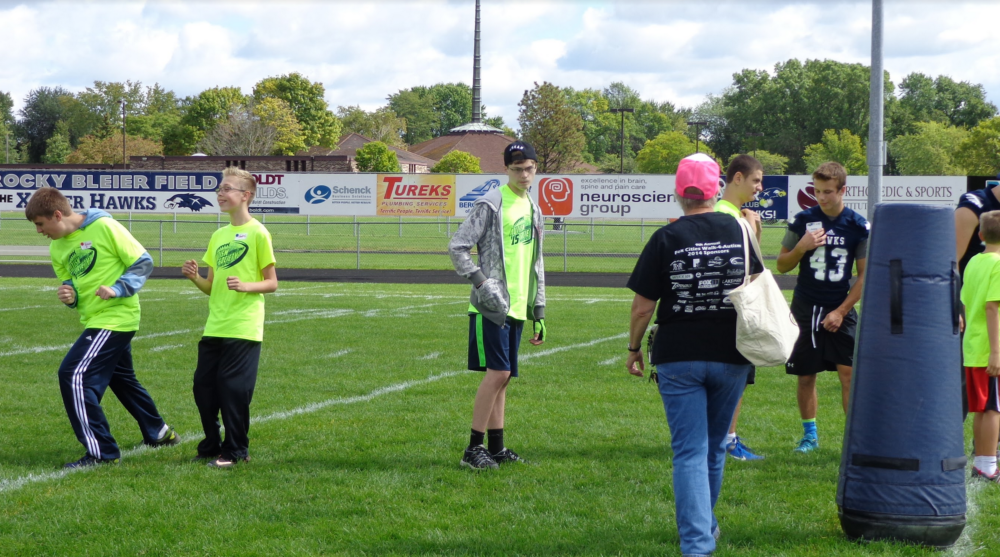 Autism Football Camp at Xavier High School