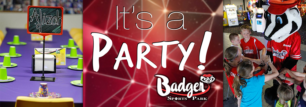 Badger Sports Parks Birthday Party