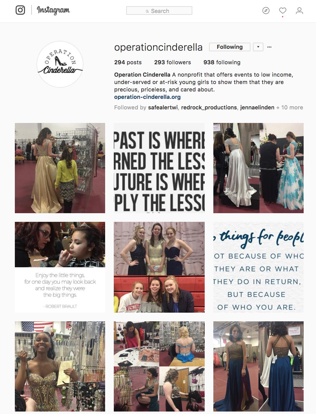 Operation Cinderella Instagram