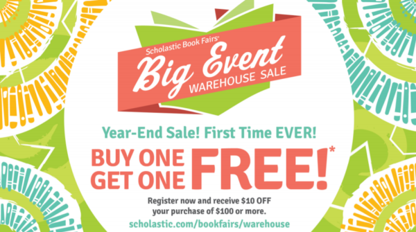 Scholastic year-end warehouse sale