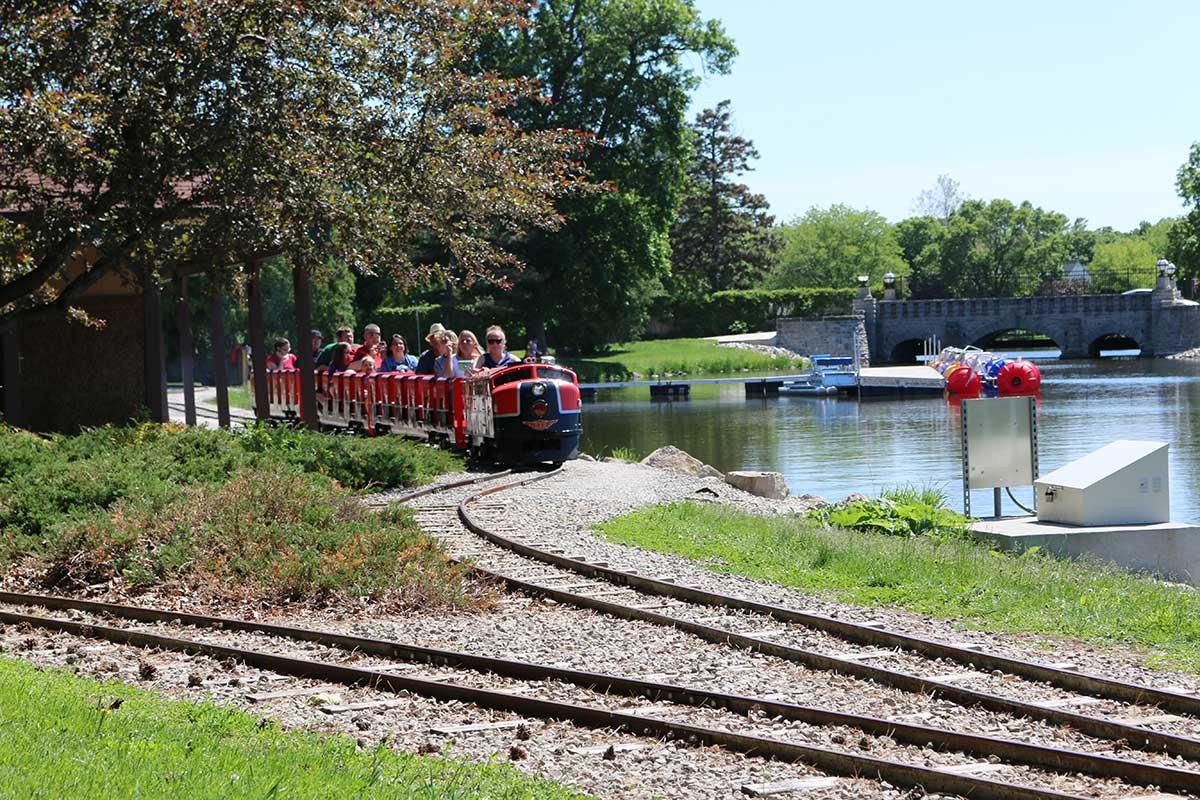 Train at Menominee Park in Oshkosh