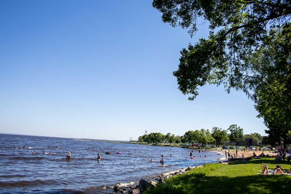 Menominee Park Beach in Oshkosh