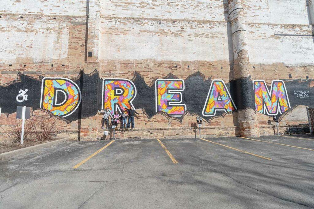 dream mural in green bay wisconsin