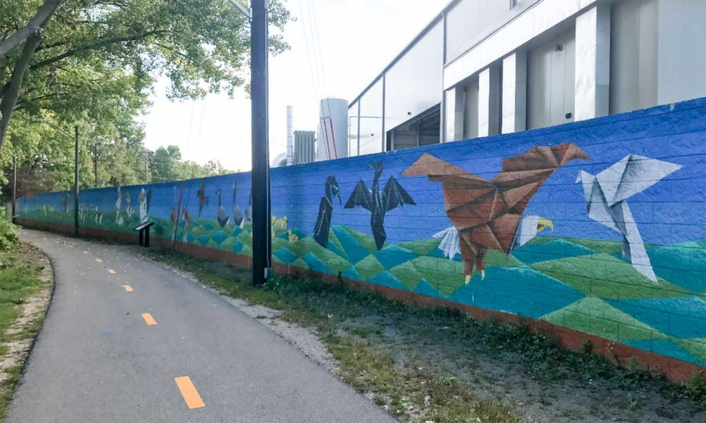 Paper Wings Mural, North Island Trail Fox River