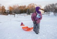 Sledding at Reid Golf Course Appleton