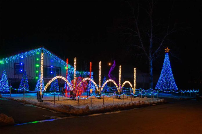 christmas lights synchronized to music