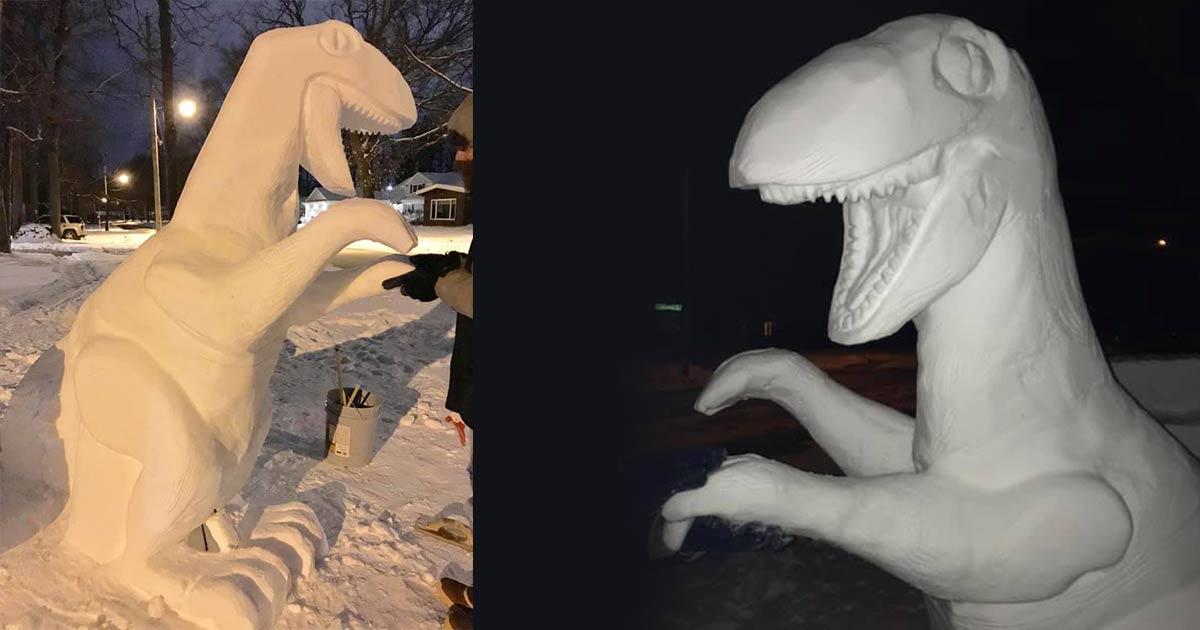 Snow Man Sculpture Appleton