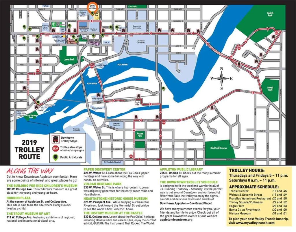 2019 trolley map