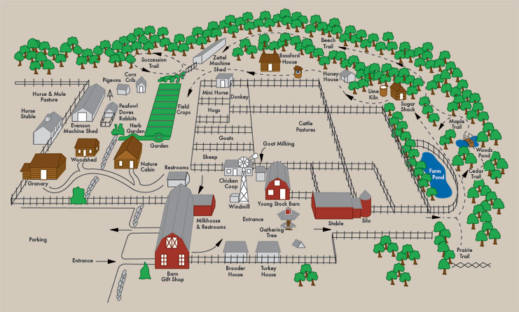 Map of The Farm, Sturgeon Bay, Door County