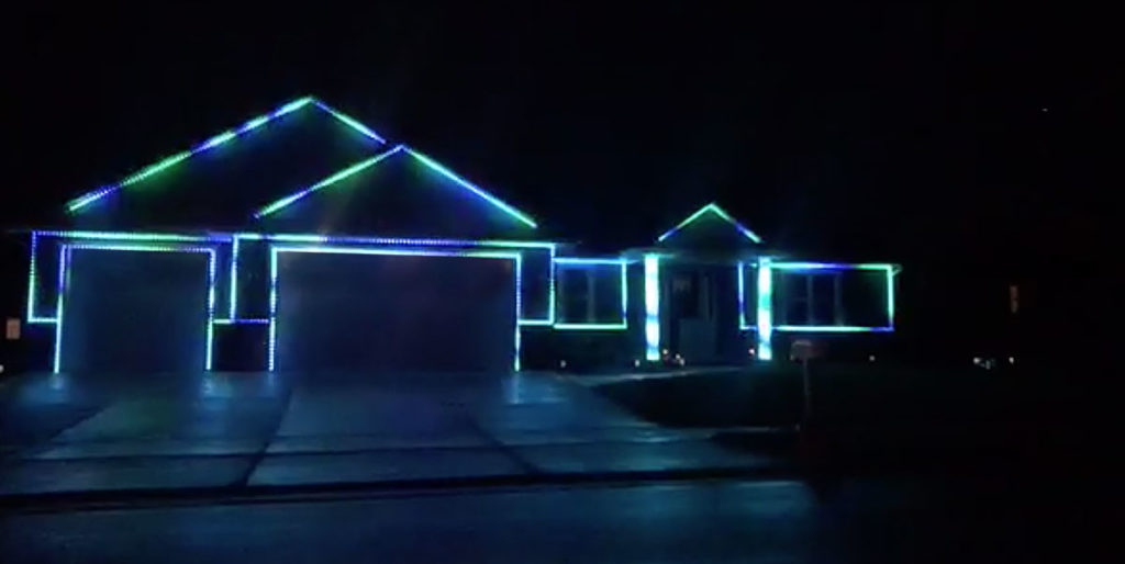 Ryford Street Halloween Light Show