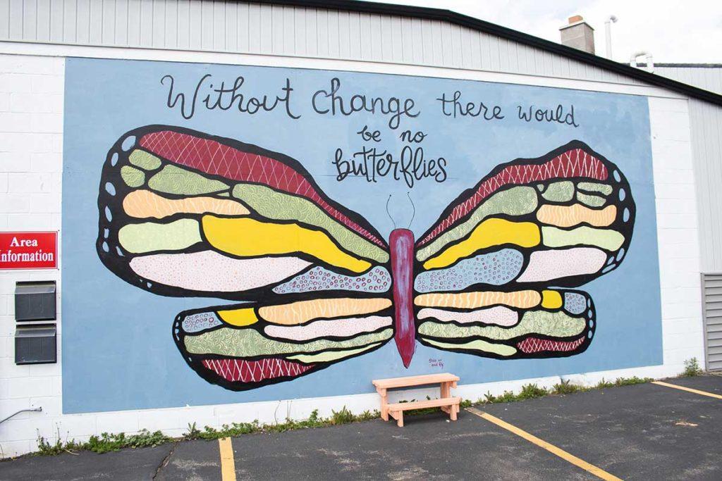 New London Butterfly Mural