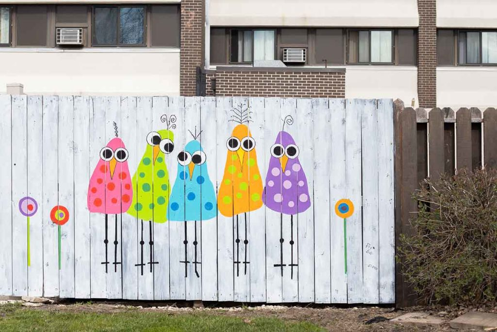 New London Fence Mural