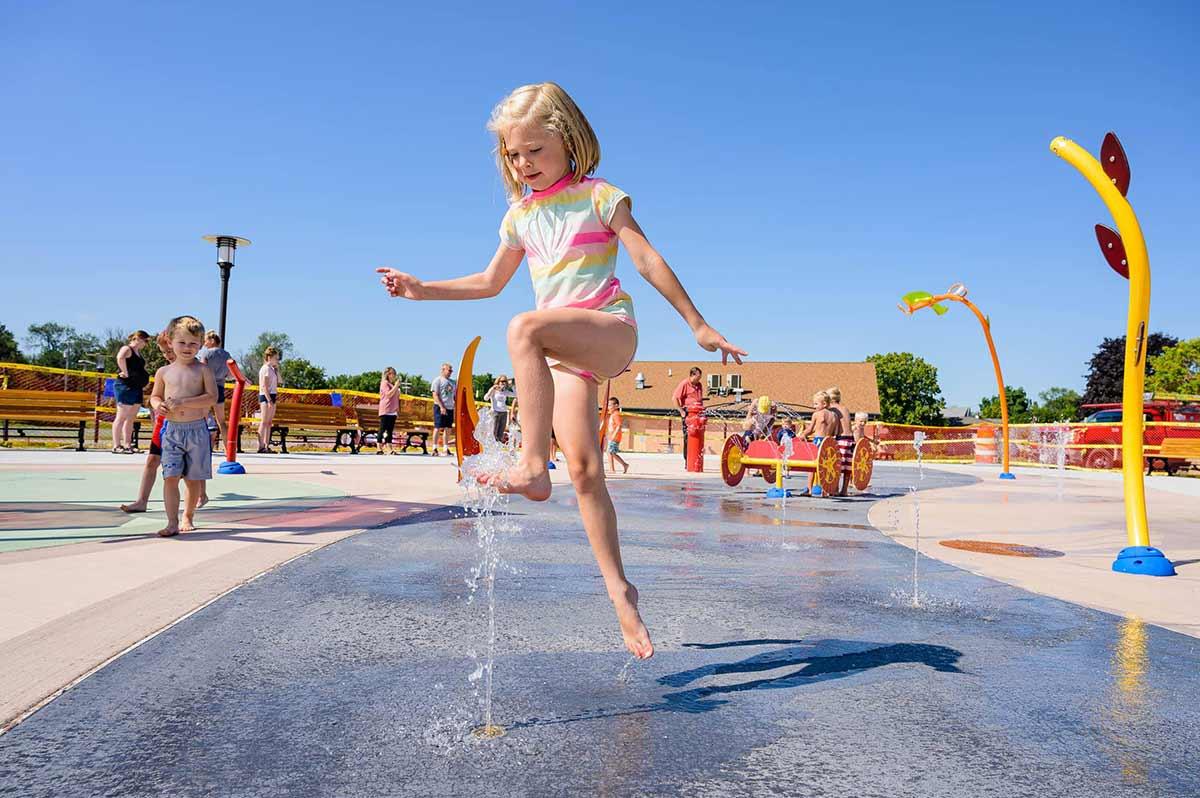 Washington Park Splash Pad Neenah