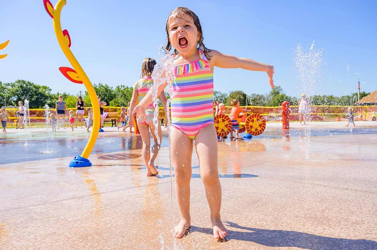 Washington Park Neenah Splash Pad