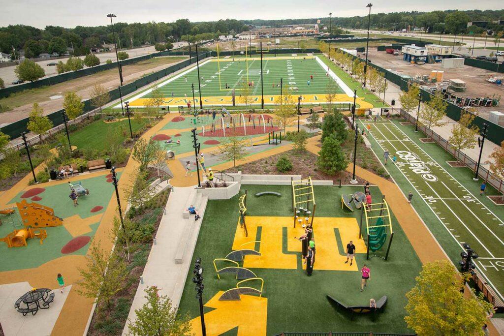 Playground Park at Titletown District Green Bay