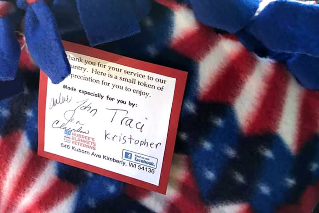 Aubrees Blankets for Veterans Kimberly