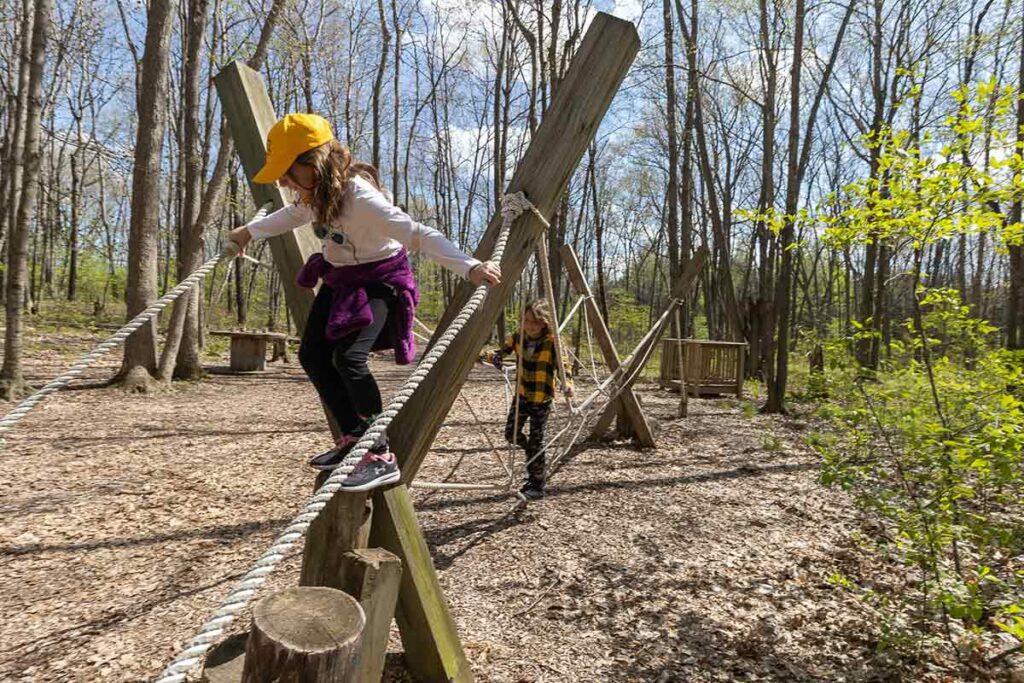 Fun Trail at Ledge View Nature Center in Chilton