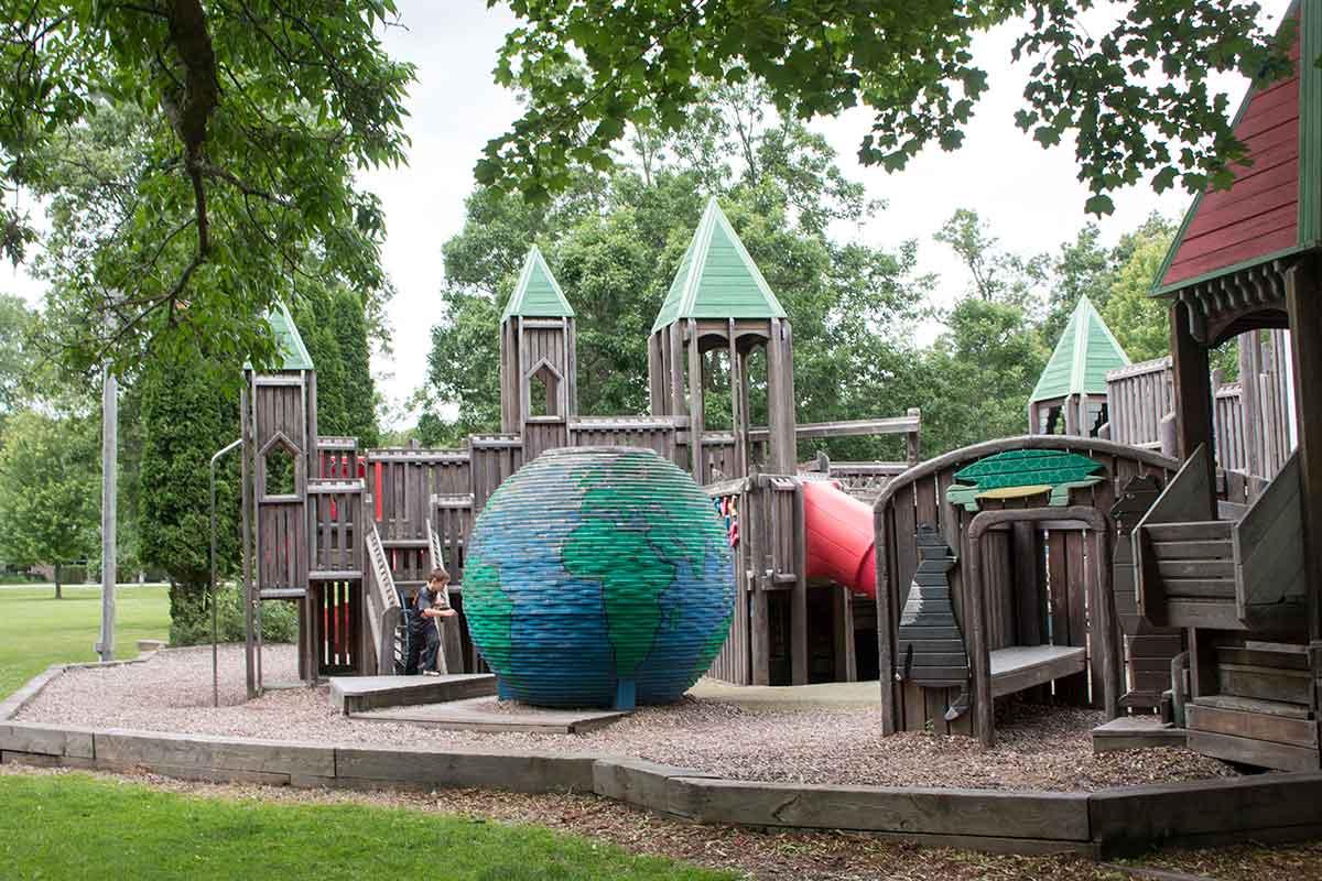 Pamperin Park Wooden Playground Green Bay