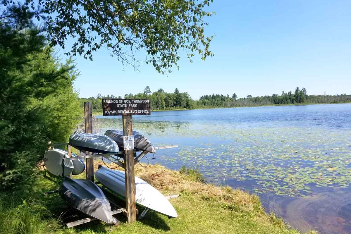 governor earl peshtigo river state park kayak rentals